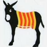 autocollant-ane-catalan-burro-noir-senye
