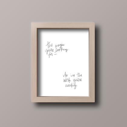 The Magic Print (White)