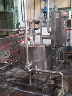 Temperer Skid for buttermilk, 5000l/h