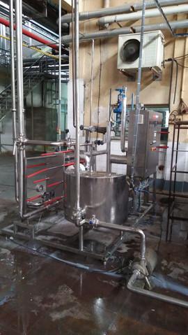 Temperer Skid for buttermilk, 5000l/h