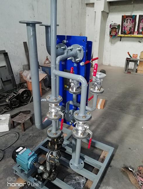 Oil cooling skid