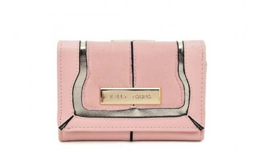Sally Young Stylish Short Wallet in Pink
