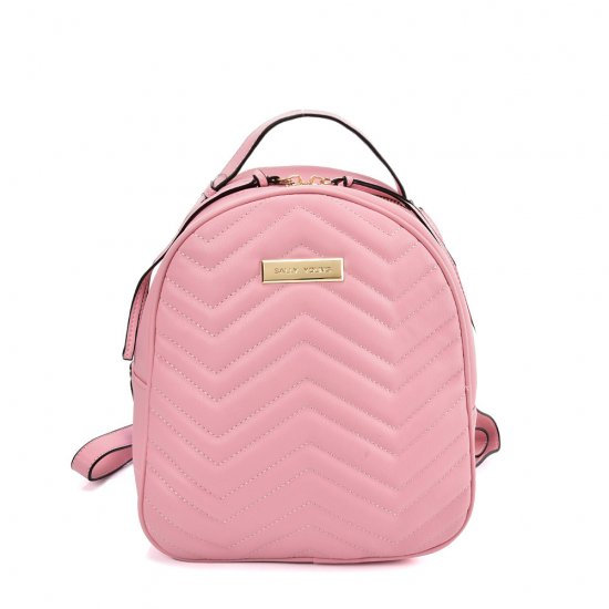 Sally Young Backpack With Hardware Decoration in Pink
