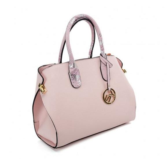 Luxury Ladies Pink Tote bag with Sequined design handle