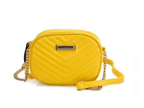 Sally Young Chain Handbag With V-shaped Line Design