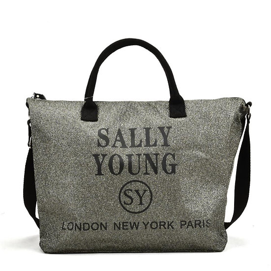 Sally Young Cross Body Travel Bag in Grey