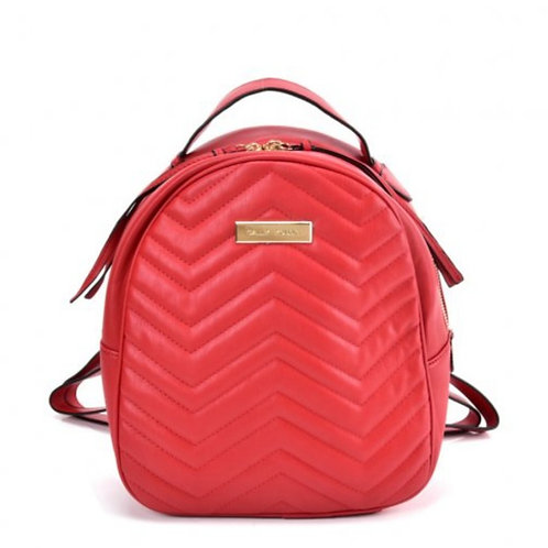 Sally Young Backpack with Hardware Decoration in Red