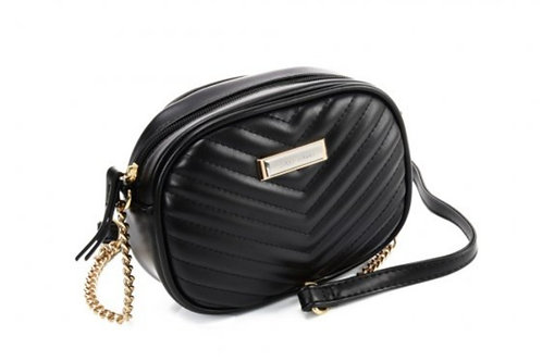 Sally Young Stylish Chain Handbag  with V design in Black
