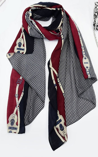 Houndstooth Style Scarf