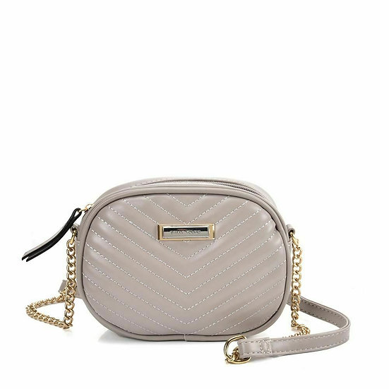 Sally Young Chain Shoulder bag with V shaped design in Grey