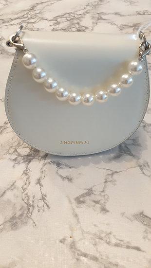 Semicircle Faux Pearl Handle Chain Shoulder Bags