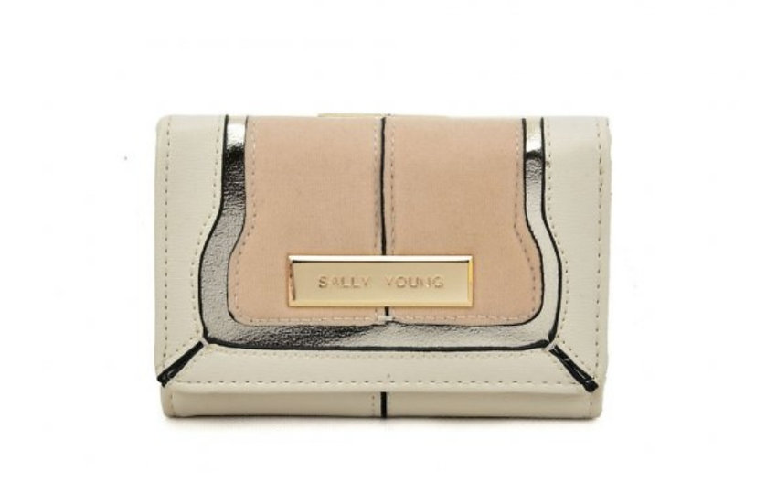 Sally Young Stylish Short Wallet in Beige