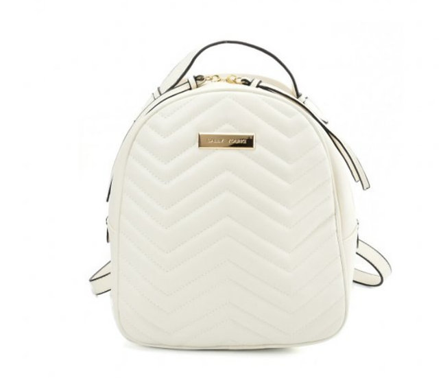 Sally Young Backpack with Hardware Decoration in White