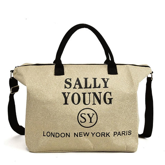 Sally Young cross body bag in Gold