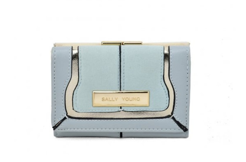 Sally Young Stylish Short Wallet in Blue