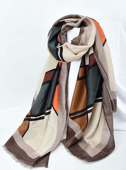 Lady Winter Large Shawl Wrap Soft Touch Fabric