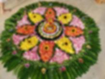 Floral rangoli collaborative art