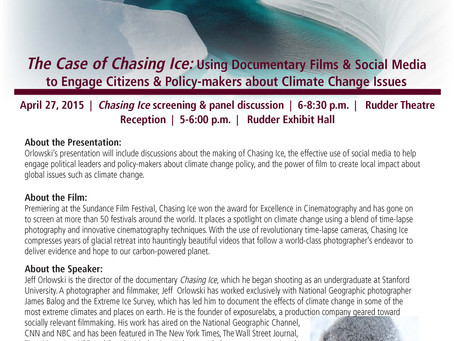 Chasing Ice Results in the Formation of the Aggie Sustainability Education & Outreach Network
