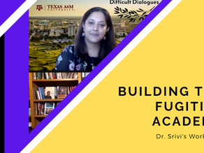 Building the Fugitive Academy: Dr. Srivi's talk on Thriving as a Scholar of Color