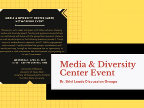 Dr. Srivi Leads National Media And Diversity Networking Event