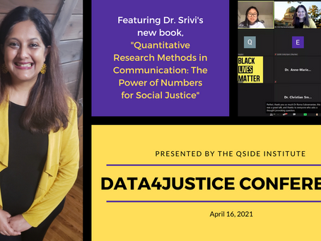 Dr. Srivi Talks about Media, Data Sciences, and Social Justice in Data4Justice Conference