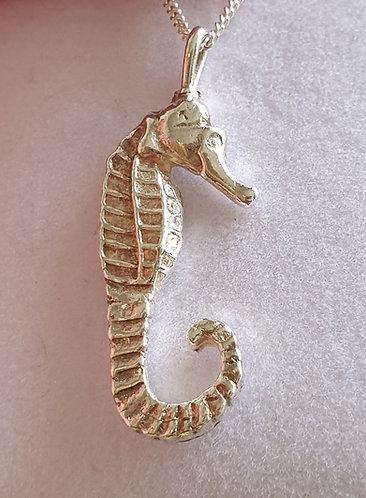 Silver seahorse single plain