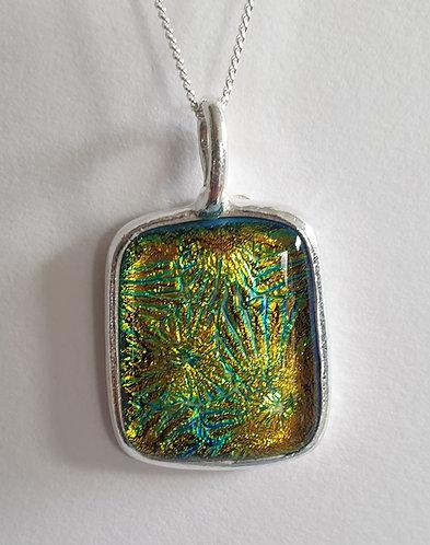 Gold Green Sunburst