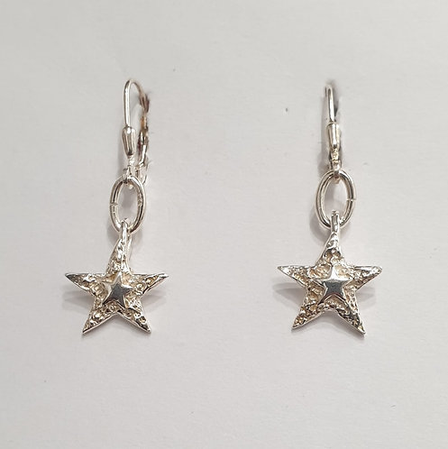 "Silver earrings ""You're a Star"""