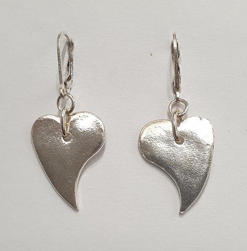 """Silver earrings """"Simple Heart"""""""