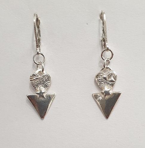 """Silver earrings """"Cupids Arrow"""""""