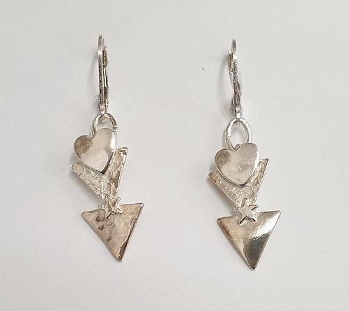 "Silver earrings ""Deco homage"""