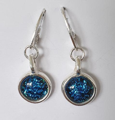 Blue Speckle Earrings