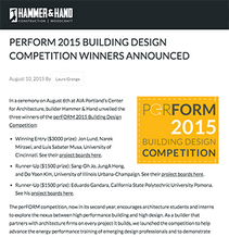 Hammer & Hand - Perform 2015 Building Design Competition