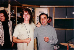 with jeff beck and zucchero studio