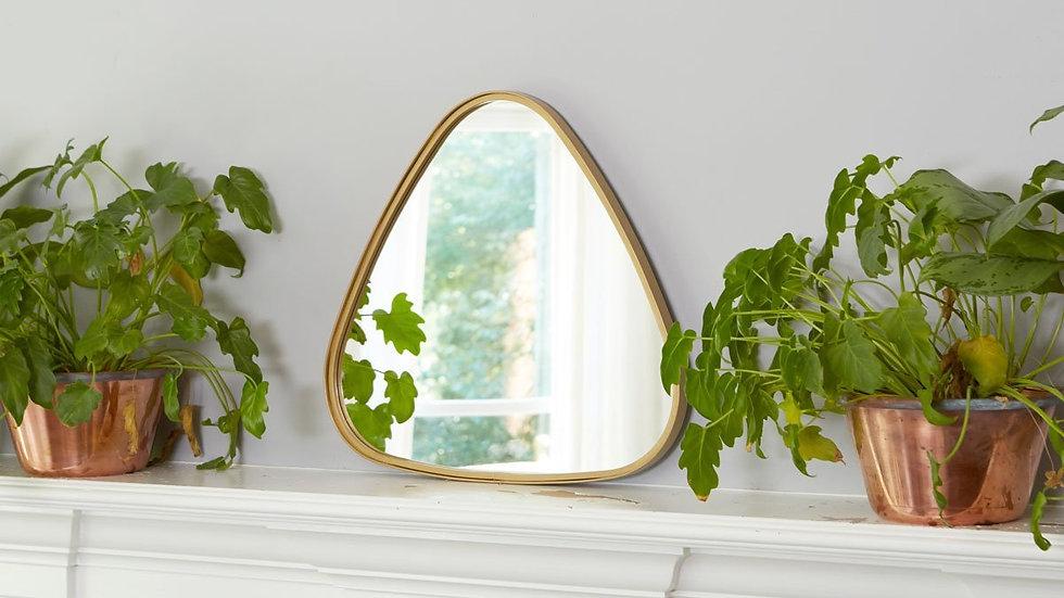 Gold Triangle Retro Mirror, Small