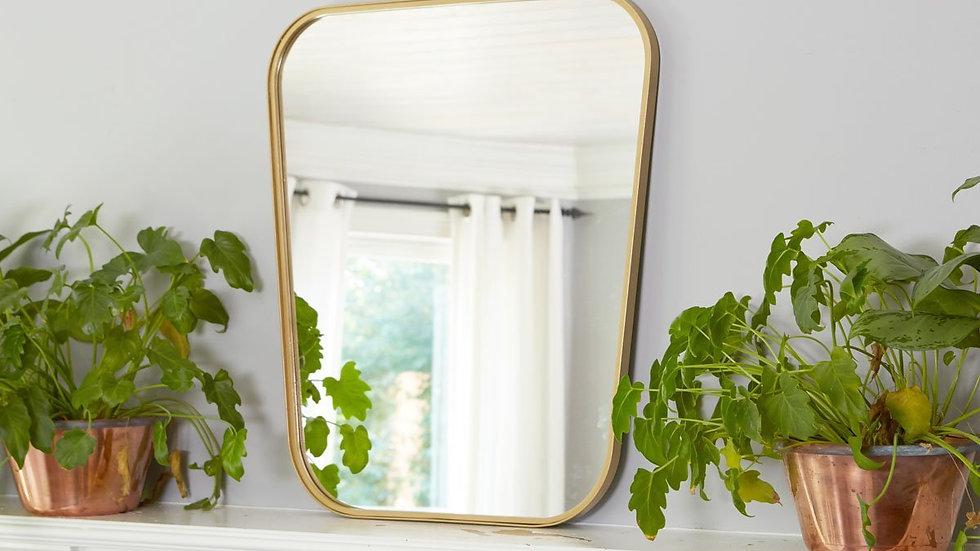 Gold Organic Retro Mirror, Medium
