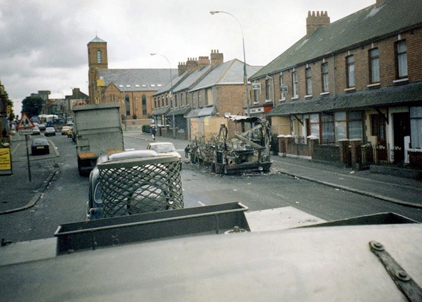 BURNT BUS ON FALLS ROAD