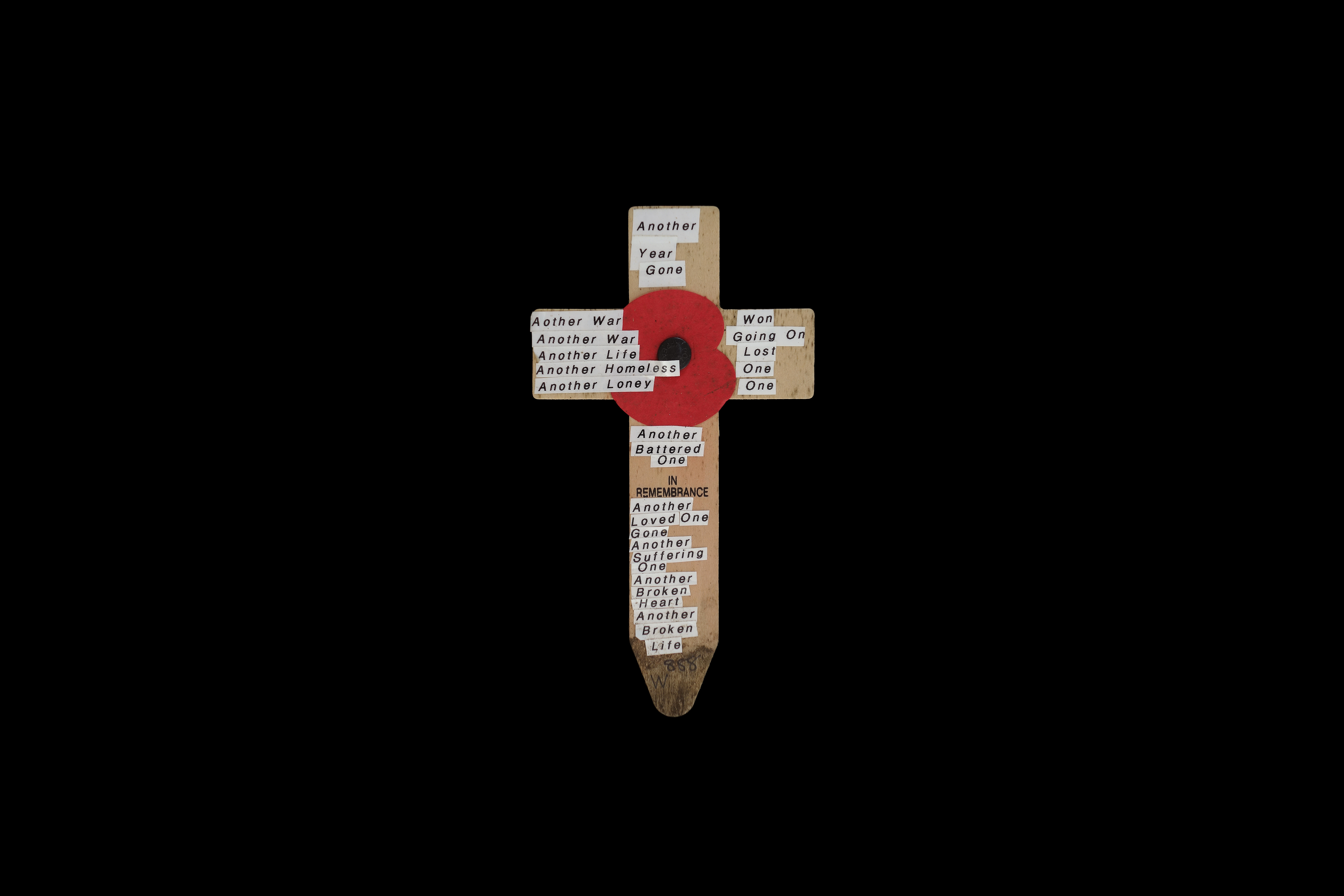Remembrance cross #28