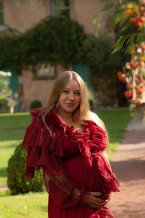 Robe grossesse - photo - Jardins des Faienceries