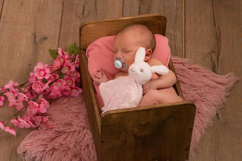 bébé / Fleur / lit