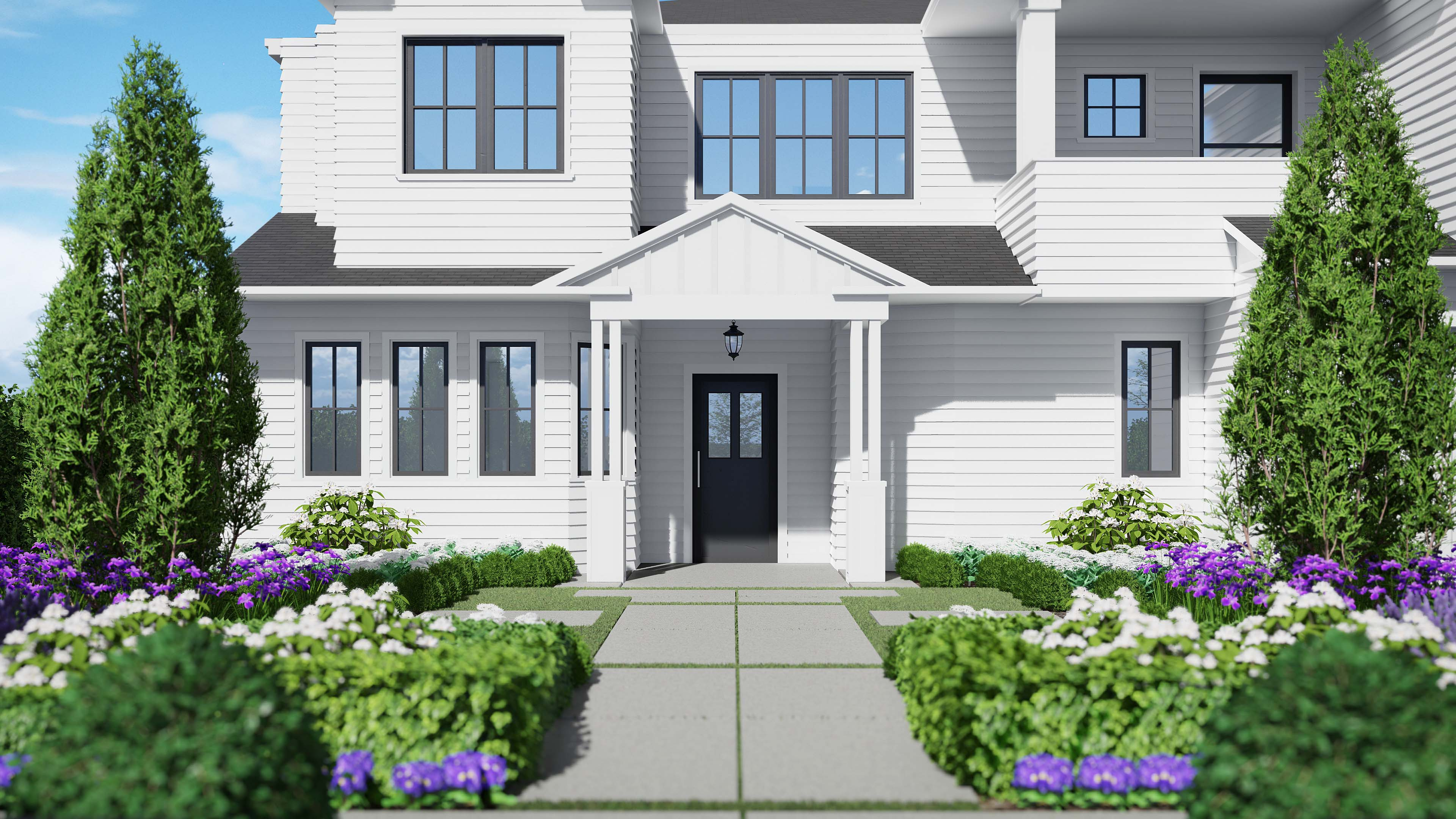 Exterior Landscaping_Front entry