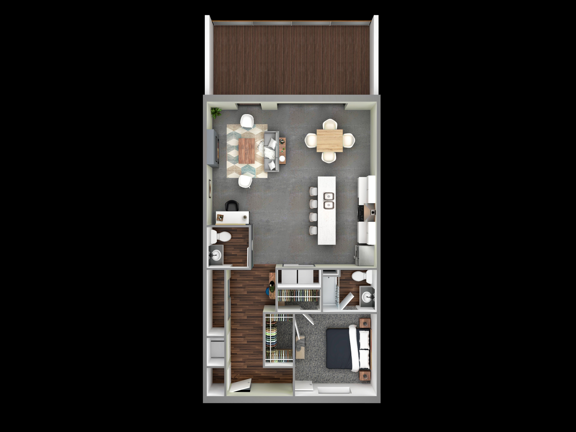 3D Plan view Rendering