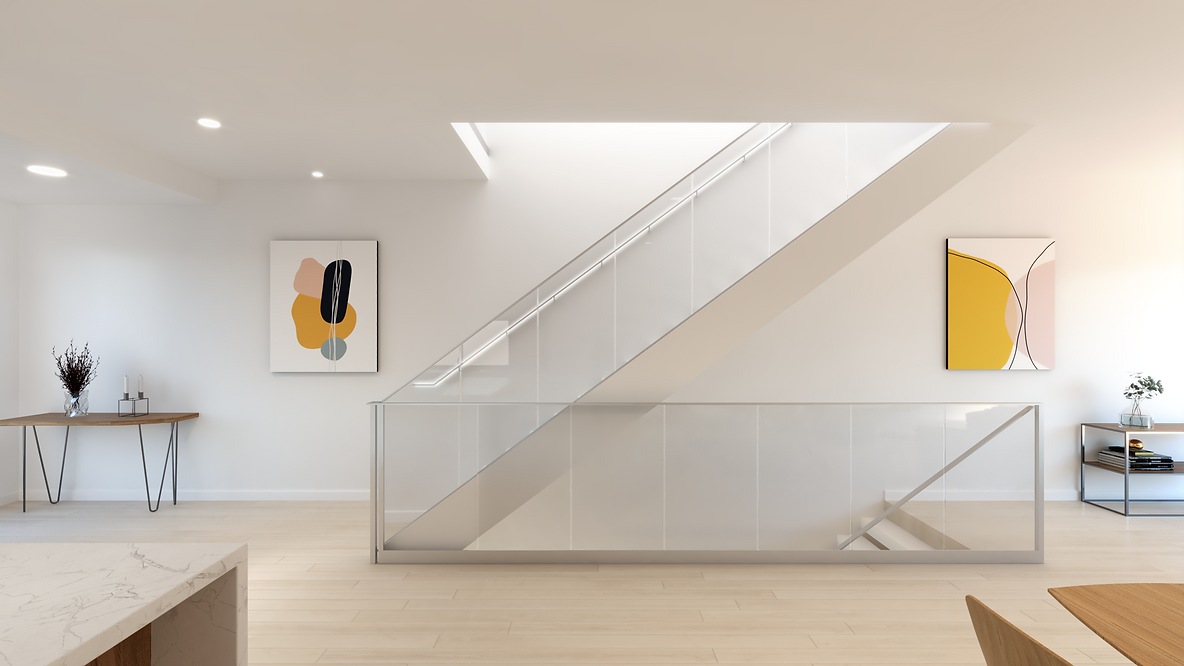 1_Modern Interior_Stair view_Bloom Effec