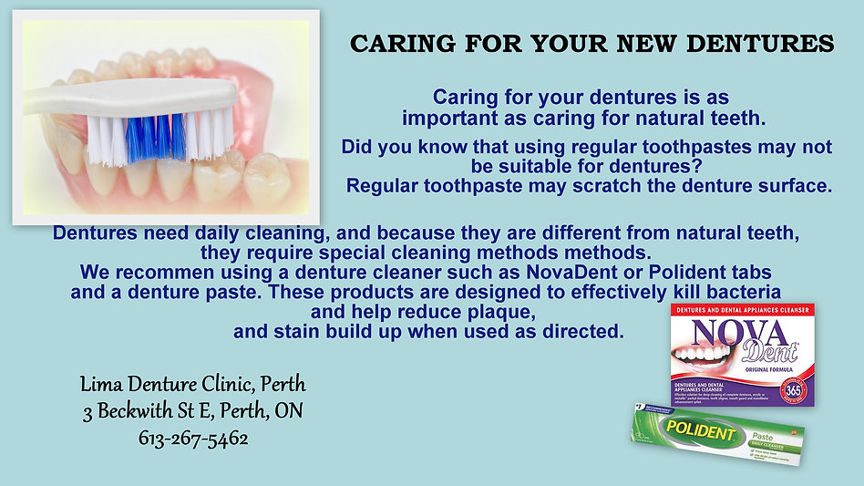 caring for your dentures poster 2 - revi