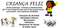 VAGAS LIMITADAS CRIANÇA FELIZ 2016