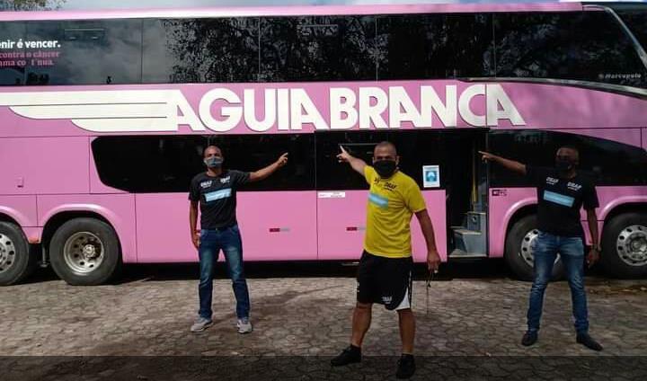ÁGUIA BRANCA CONDUZ COM EXCELÊNCIA PESSOAS PELO BRASIL E AJUDA CAUSA SOCIAL DBAF