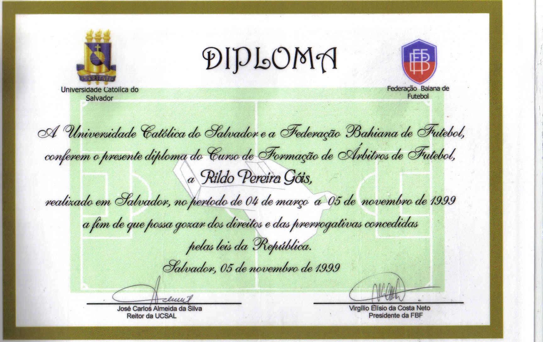 Diploma Rildo Gois
