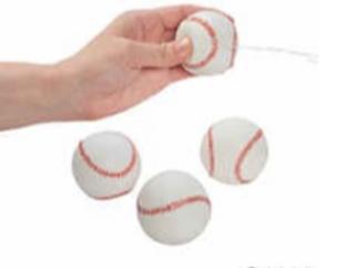 Baseball Squirt Toys