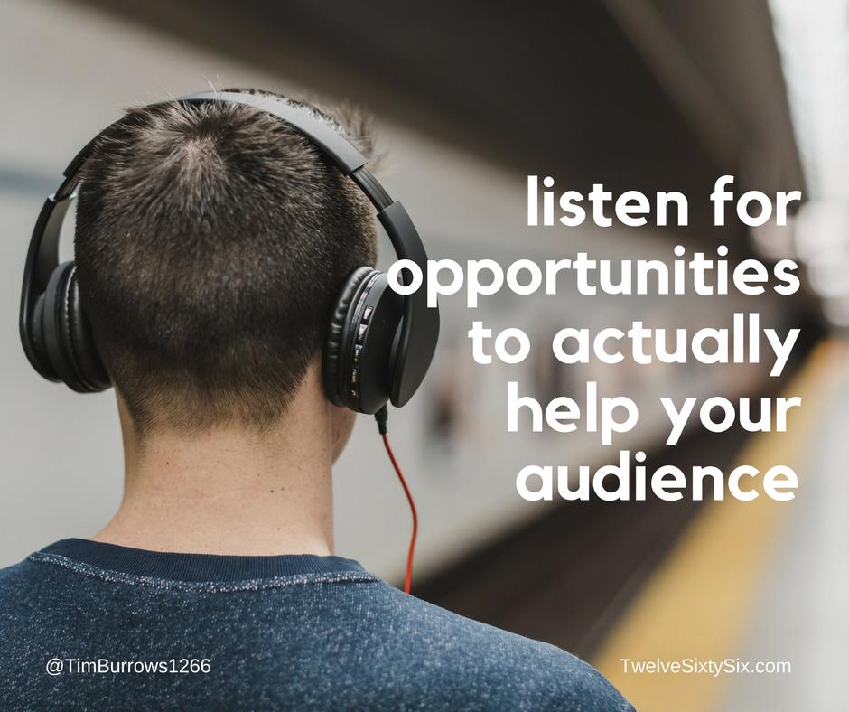 Listen to teach your community