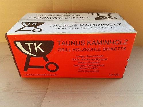 Grillkohle Briketts in Karton a 10 Kg (TK Taunus Kaminholz)